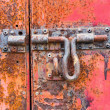 Rusty door bolt — Stock Photo