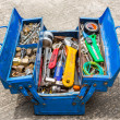 Hand Tools in box — Stockfoto