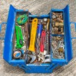 Hand Tools in box — Stock Photo