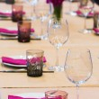 Stock Photo: Table set up
