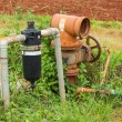 Water filter and valve — Stockfoto