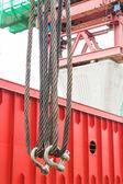 Heavy duty steel wire rope sling — Stock Photo