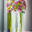 Flower bouquet on table — Stock Photo