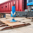 Stock Photo: Crane outrigger pad