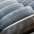 Old and no tread tires — Stock Photo