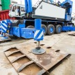Crane outrigger pad — Stock Photo