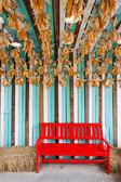 красный цвет стула в ферме — Стоковое фото