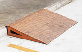 Steel plate ramp — Stock Photo