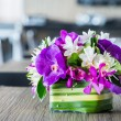 Stock Photo: Flower bouquet on wood table