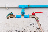Tab water valves with hose — Stock Photo