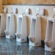 Urinals in public park restroom — Stock Photo