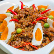 Spicy shrimp paste with salted duck egg — Stock Photo