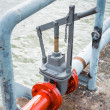 Sea water valve — Stock Photo
