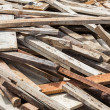 Old lumber in construction site — Stock Photo