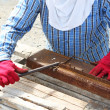 Stock Photo: Rebar bending