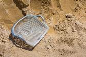 Clam shell shaped basket — Stock Photo
