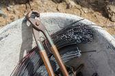 Rebar tying tool — Stock Photo