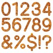 Font rusty steel texture numeric — Stock Photo