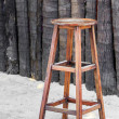Wooden chair for beach bar — Stock Photo