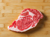 Raw aged beef ribeye steak — Stock Photo