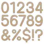 Font rough gravel texture numeric 0 to 9 — Stock Photo