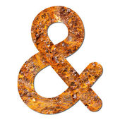 Font rusty steel texture ampersand sign — Stock Photo