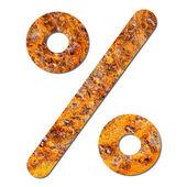 Font rusty steel texture percent sign — Stock Photo