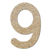 Font rough gravel texture numeric 9 — Zdjęcie stockowe