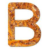 Font rusty steel texture alphabet B — Stock Photo