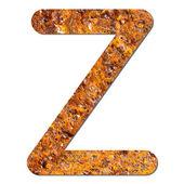 Font rusty steel texture alphabet Z — Stock Photo