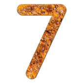Font rusty steel texture numeric seven 7 — Stock Photo