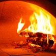Firewood oven for bake pizza — Stock Photo
