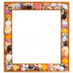 Seashell photo frame — Stock Photo