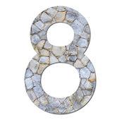 Font stone wall texture numeric 8 — Stock Photo