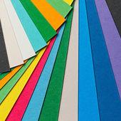 Colorful paper arrangement — Photo