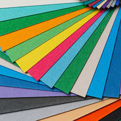 Colorful paper arrangement — Stock Photo