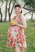 азиатская беременная женщина — Стоковое фото