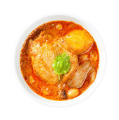 Muslim style chicken and potato curry or chicken mussaman curry — Stock Photo