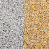 Gray and yellow color gravel floor — Stock Photo