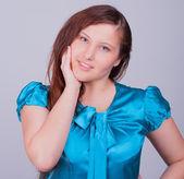 Genç güzel beyaz kadın — Stok fotoğraf