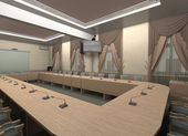 De vergaderzaal. — Stockfoto
