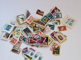 . Postage stamps in bulk. — Stock Photo