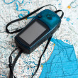Navigator on the map. — Stock Photo