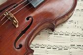 Duitse viool van de negentiende eeuw. — Stockfoto