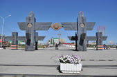 Entrance to the square of the Victory, Yakutsk. — Stock Photo