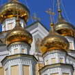 Orthodox temple on the background of blue sky. — Stockfoto