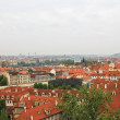 Stock Photo: Red brick roofs of Prague.