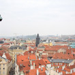 Red brick roofs of Prague. — Stock Photo