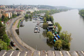 Prague, the embankment of the Vltava river. — Stock Photo