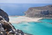 Sea summer landscape coast of the Greek island. — Stockfoto